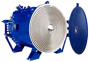 Spiral Heat Exchanger Cutout